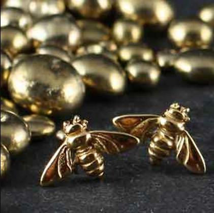 Zina Kao: Itty Bitty Bee Post Earring
