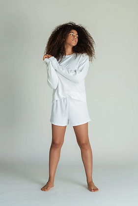 Perfect White Tee:  Layla White Shorts