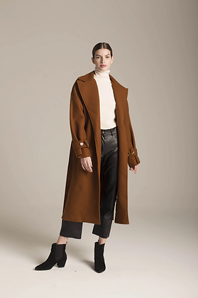 Déluc: Alba Coat in Cinnamon