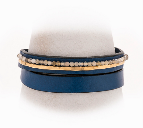 Taylor and Tessier: Claude Leather Bracelet