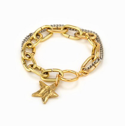 Taylor and Tessier: Sirius Brass Chain Bracelet