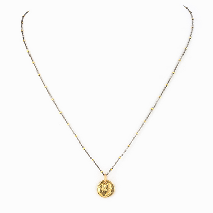 Taylor and Tessier: Aquila Mixed Metal Necklace