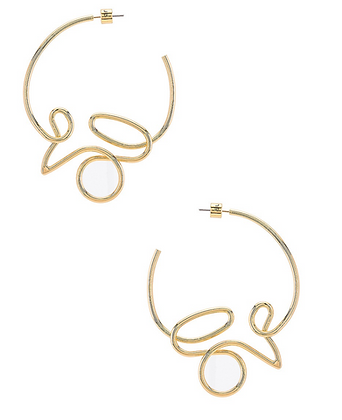 Jenny Bird: Hoops Love in gold