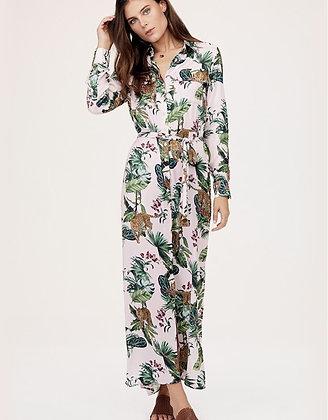 David Lerner: Lola Safari maxi shirt dress