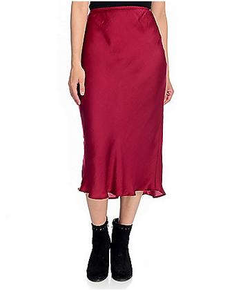 NWT Band of Gypsies: Sante |  Satin Woven Elastic Waist Midi Skirt