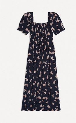 The ba&sh: Midi Floral Dress | Dark Blue Kiwane