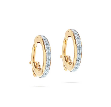 Adina Reyter: Pave Huggie Hoops style e277pvhhe-y14