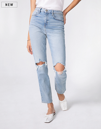 Unpublished: WILLA   Super High Waist, Mom Fit, Straight Leg in Reclaimed