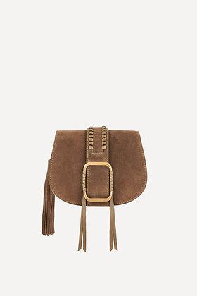 ba&sh: Teddy Small Crossbody Bag | Kaki