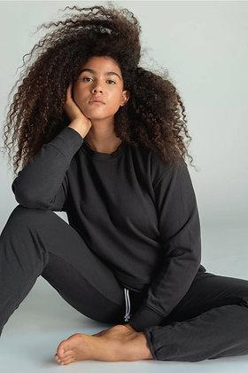 Perfect White Tee: Tyler Vintage Black Sweatshirt