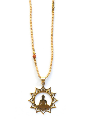 Didi Project: Wooden Beaded Necklaces-Om or Buddha