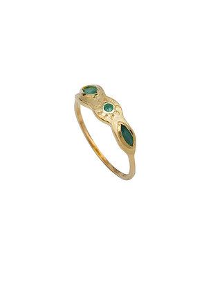 Louise Hendricks: Yael ring | Brass Gold Plated Ring
