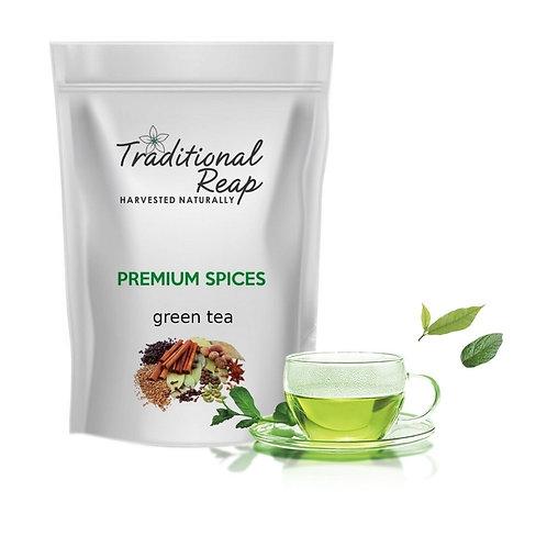 premium green tea- leaf