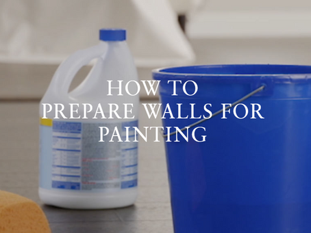 HOW TO PREPARE WALLS FOR PAINTING