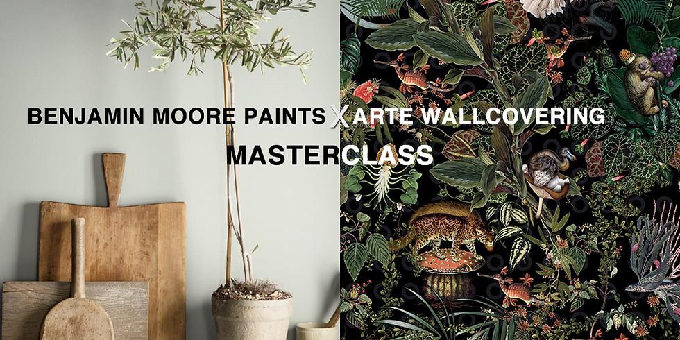 Benjamin Moore & Arte Wallcovering Masterclass