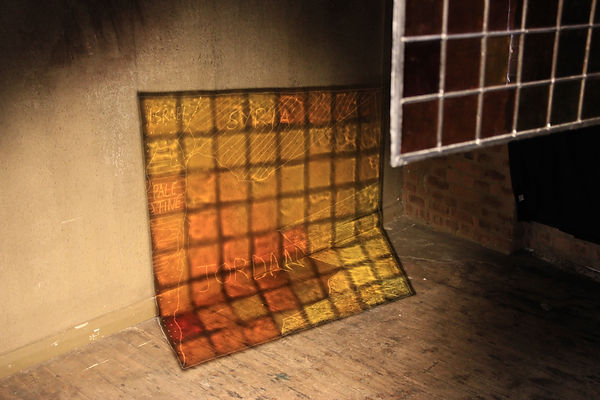 Stained Glass Climate Data Projection, M