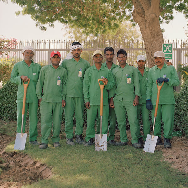 Grounds Workers. The British Embassy. Mu