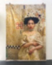 A klimt of Gold - Self-portrait as the W