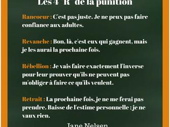 """Les 4 """"R"""" de la punition"""