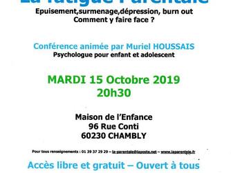 Conférence le 15 octobre à Chambly : La fatigue parentale