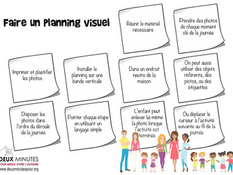 Faire un planning visuel