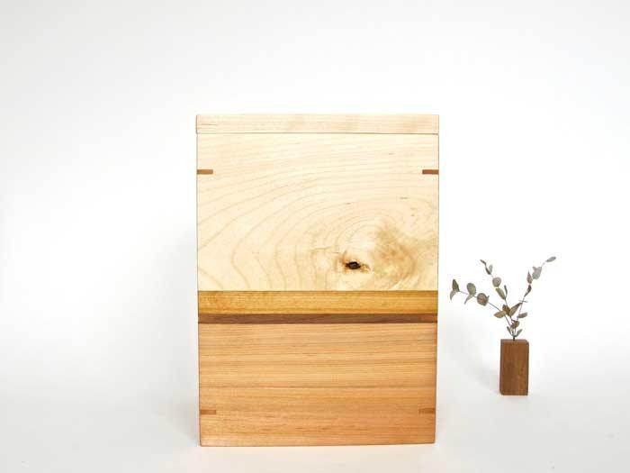 NEW Birch and Cedar Urn with Keepsake Tray