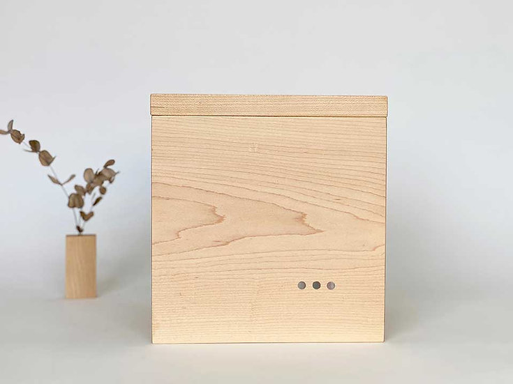Minimalist Maple Urn