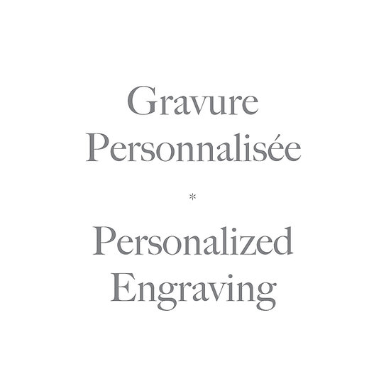 Optional personalized engraving