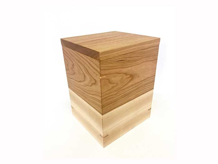 NEW Cherry wood and Maple Urn