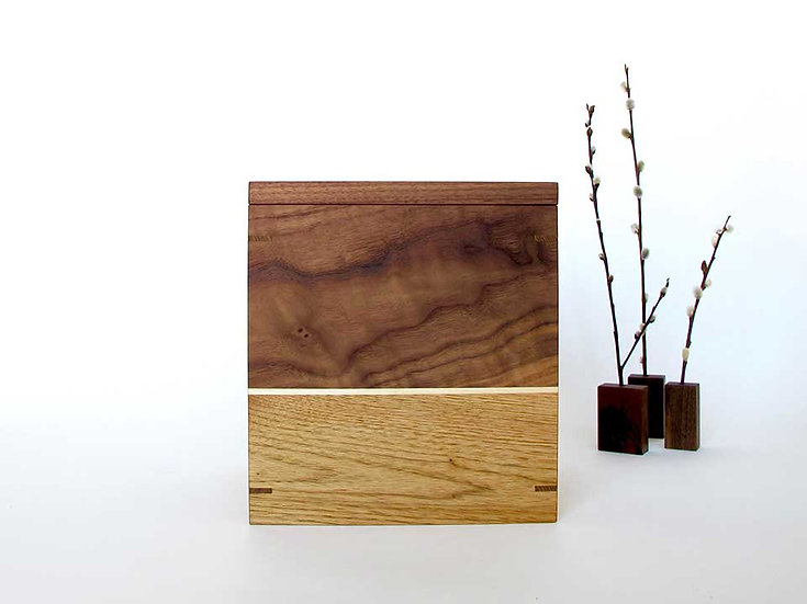 NEW Wooden Urn with Keepsake Tray