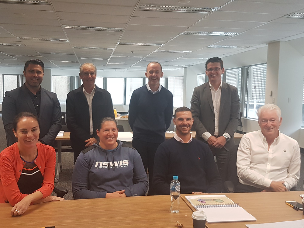 The ICTE Peer Review Panel, front (l-r) Katherine O'Regan, Louise Savage, Ante Covic, David Slade. Back row Aaron Coutts, Peter Mold, Stephen McGregor, Anthony Van Rooyens