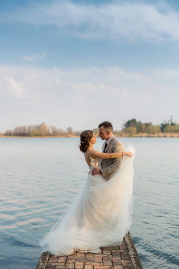 Married couple at the vaal