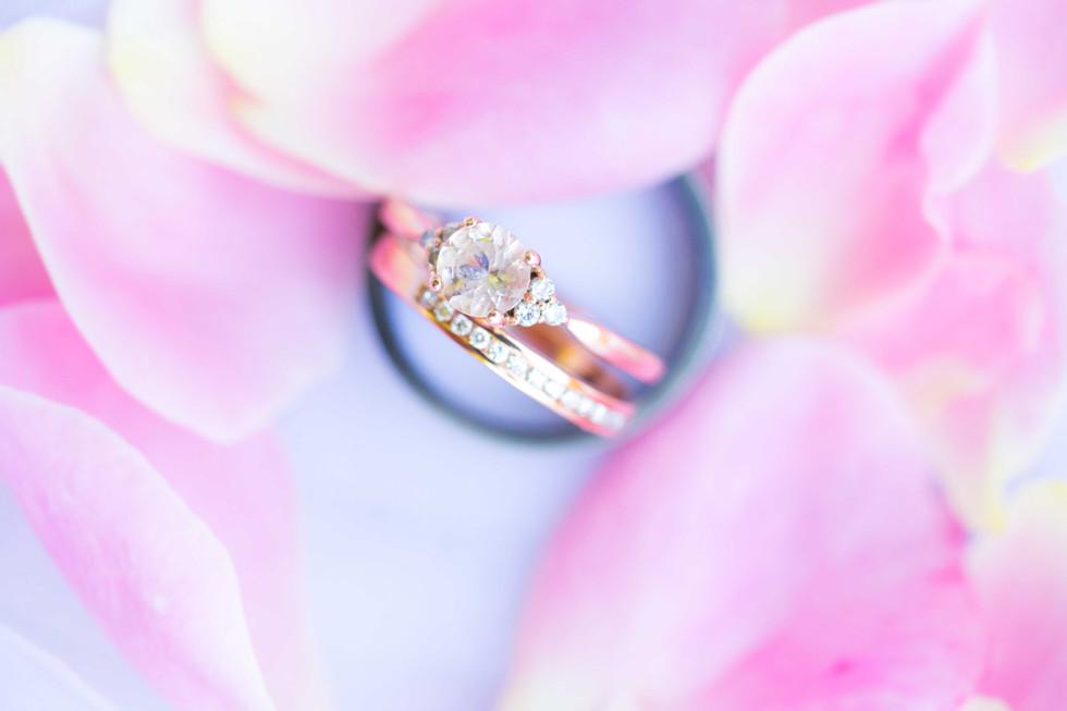 Weddings rings in flowers