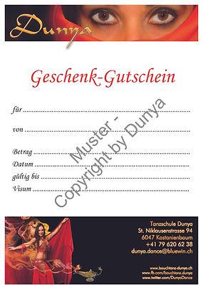 Schenken Sie einen Gutschein der Tanzschule_Dunya