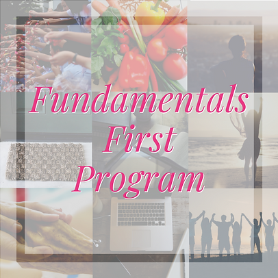 Fundamentals First Program Pink letters.