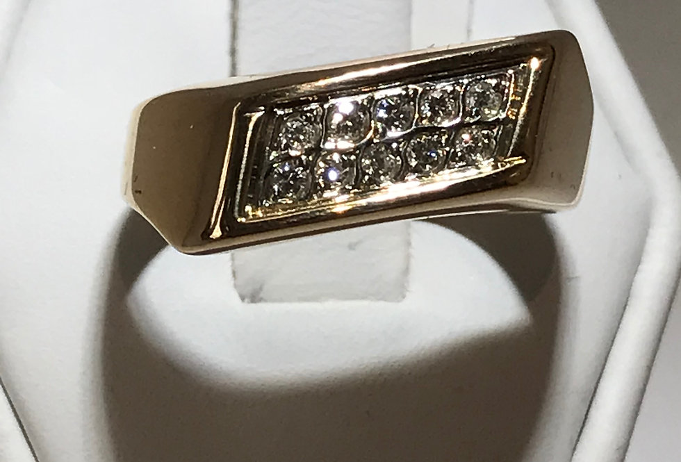 MEN'S DIAMOND RING 10K YELLOE GOLD