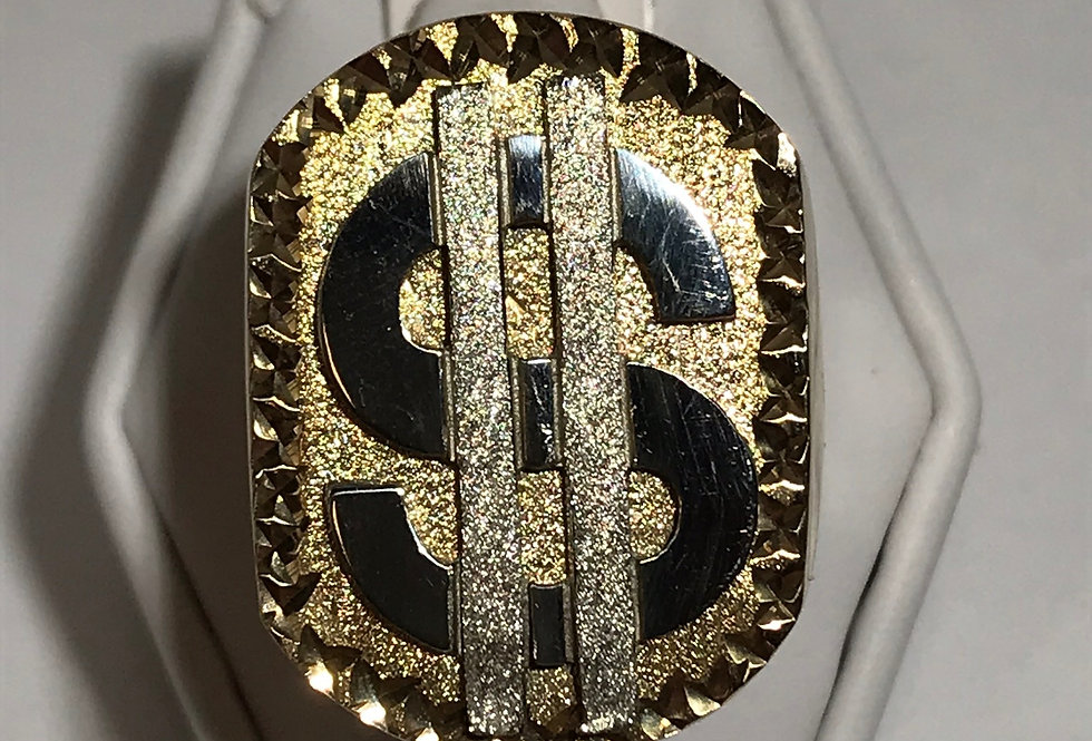BIG MONEY RING 10K YELLOW GOLD
