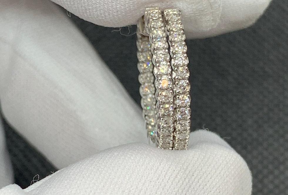 14k White Gold 0.50tcw Diamond Hoop Earrings