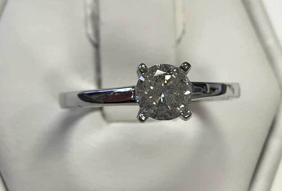RD 0.50CT DIAMOND ENGAGEMENT RING 14K WG
