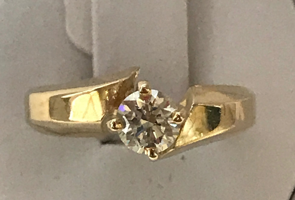 0.50CT DIAMOND ENGAGEMENT RING 10K YG