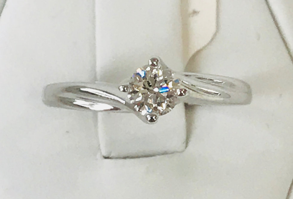 0.40TCW DIAMOND RING 14K WG