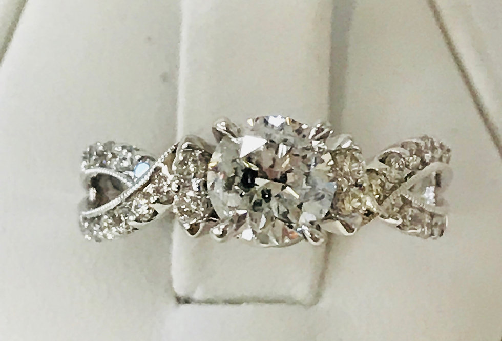 1.33TCW DIAMOND ENGAGEMENT RING 18K WG