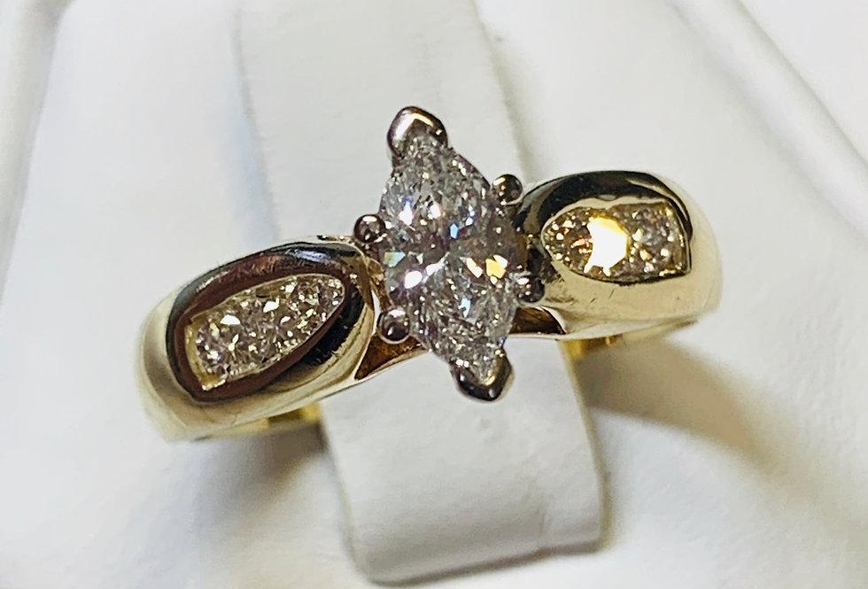 0.62TCW DIAMOND MARQUISE 14K YG