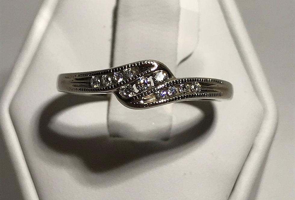 0.14TCW DIAMOND RING 10K WG