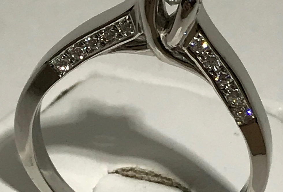 0.45TCW DIAMOND RING 14K WG
