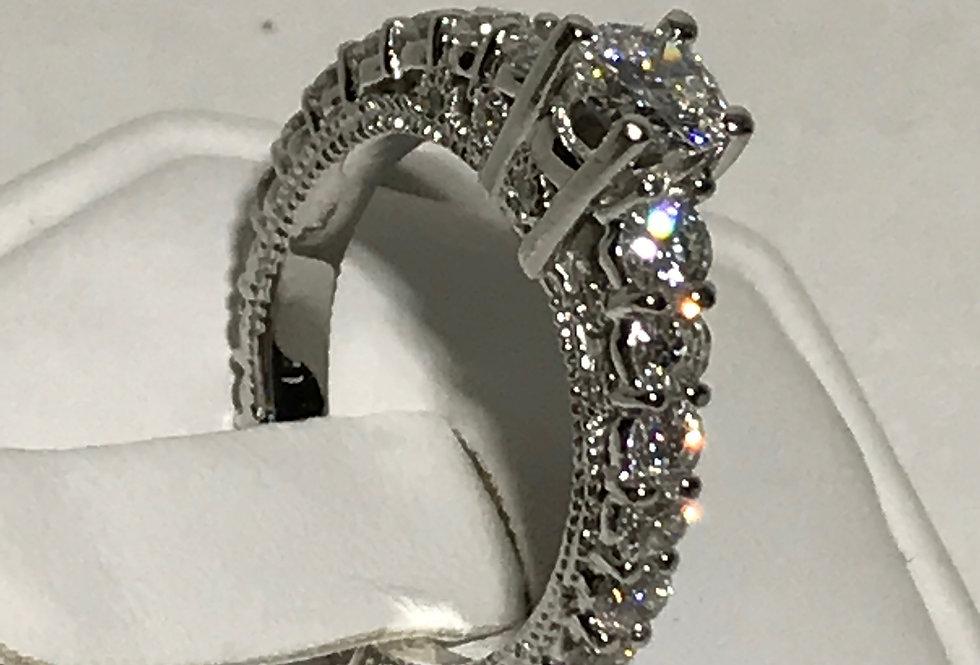 1.76TCW DIAMOND ENGAGEMENT RING 14K WG