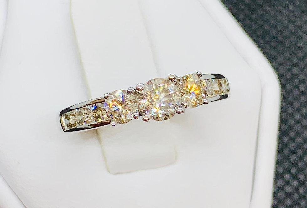 1.00TCW DIAMOND ENGAGEMENT RING 10K WG