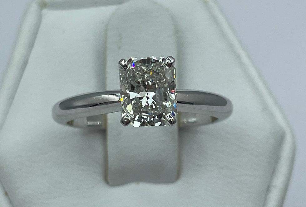 Radiant Cut / 1.33ct /H / I1 / 14k WG Engagement Ring