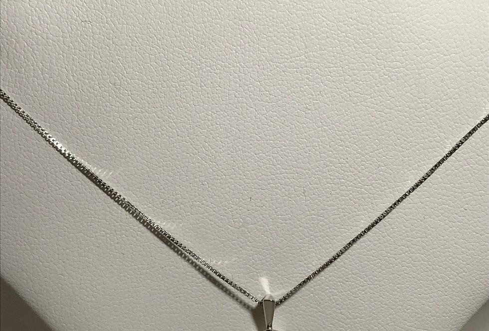 0.69TCW DIAMOND PRINCESS CUT SET 14K WG