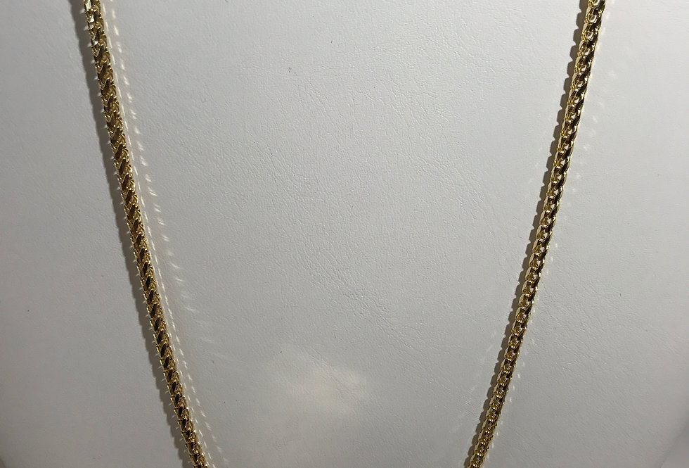 10K YELLOW GOLD FRANCO LINK CHAIN